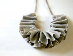 frilly necklace