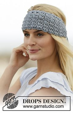 Ondina Headband By DROPS Design - Free Crochet Pattern - (ravelry)