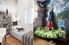 Фотообои в интерьере детской комнаты мальчика