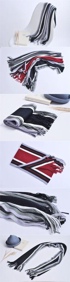 Free ship 2017 tartan Scarves men winter new brand Fashion Striped Scarf for Men Design cozy warm long scarf cotton black Tassel