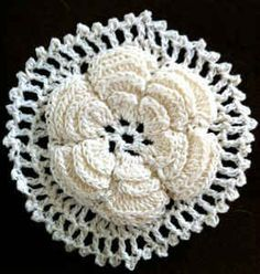 Irish Rose Motif #crochet