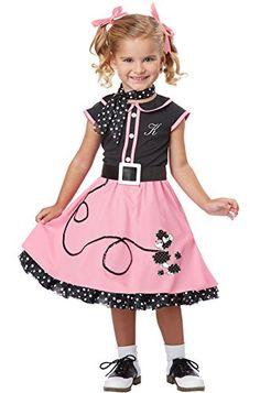 6fe7d8fc75cd Amazon.com: California Costumes 50's Poodle Cutie Toddler Costume, 4-6:  Toys & Games