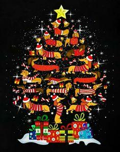 Christmas Vintage Christmas Cards, Christmas Dog, Christmas Pictures, Christmas Humor, Dachshund Art, Dachshund Puppies, Daschund, Lab Puppies, Weenie Dogs