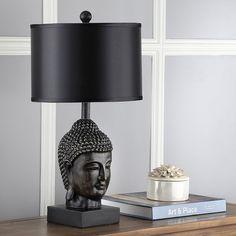 Bloomsbury Market Milena 62cm Table Lamp Set & Reviews   Wayfair.co.uk Black Table Lamps, Table Lamp Sets, Buddha Lamp, Buddha Decor, Golden Buddha, Lamp Shade Store, Led, Desk Lamp, Light Bulb