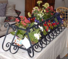 Your cell phone picture or photograph. Wrought Iron Window Boxes, Cell Phone Picture, Iron Windows, Iron Art, Container Gardening, Create, French, Popular, Design