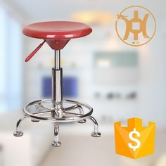ABS Plastic Swivel Bar Stool with Footrest/Night Club Bar Stool HC-K116-1