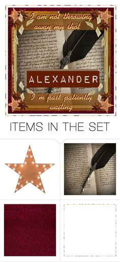 """""""The letter A: Alexander Hamilton RTD"""" by erose31415 ❤ liked on Polyvore featuring art and thelettera"""