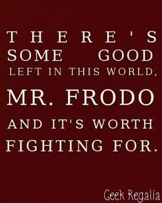 This Lord of the Rings quote is very fitting due to recent events. #quoteoftheday #lordoftherings #fightforgood