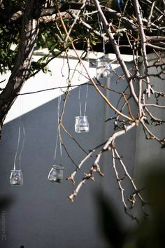 Lanterns glass jars and wire Jar Lanterns, Glass Jars, Garden Art, The Hamptons, Things To Do, Flowers, Plants, Wire, Blog