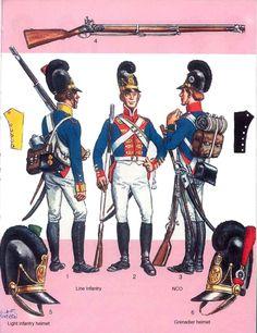 Bavarian infantry, Napoleonic wars