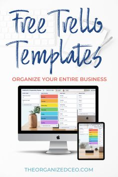 Get these free Trello templates for online entrepreneurs, coaches, consultants, bloggers, and digital product creators. Organize your business with these free Trello templates. The 3 boards include the biz dashboard, productivity planner, and system and processes. Business Organization, Tool Organization, Trello Templates, Online Entrepreneur, Coaches, Productivity, Online Business, Organize, Boards