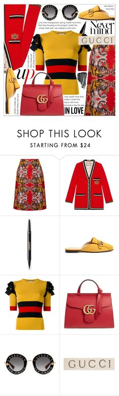"""COLORS"" by celine-diaz-1 ❤ liked on Polyvore featuring Gucci and Sisley"