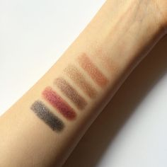"""Swatches of our new Silken Shadow Sticks taken by Amazingy (@iamazingy) on Instagram — """"If these aren't perfect hues for a sunny autumn afternoon like today's - ILIA's Silken Shadow Sticks in (left to right) 'You spin me round', 'Take on me', 'Age of consent, 'In between days', 'Next to you' and 'And she was'."""" #newforfall #eyeshadow"""