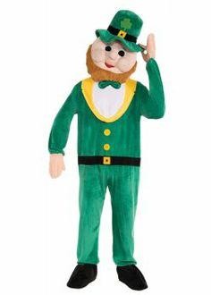 St. Patrick's Day Costumes: Leprechaun Mascot Costume (details at Adults-Halloween-Costume.com) #halloween #Irish #Leprechaun #StPatricks #costumes