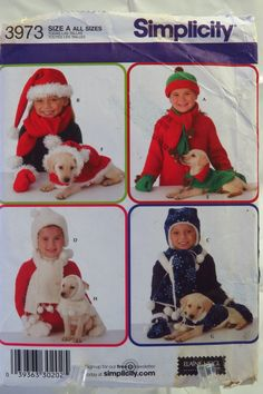 Simplicity 3973 Childs' and Dog Accessories