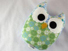 Stuffed Owl Toy Plush Mini Pillow Softie Blue by LittleSidekick, $14.00
