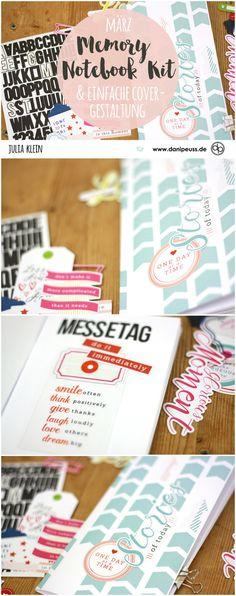 Memory Notbook Kit März 2017 & eine einfache Cover Gestaltung von Julia Klein für www.danipeuss.de #danidori