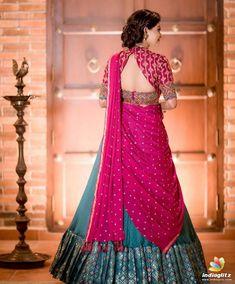 Lehenga Saree Design, Half Saree Lehenga, Lehnga Dress, Saree Look, Lehenga Designs, Lehanga Saree, Set Saree, Lehenga Dupatta, Lahenga