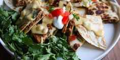 Beef Quesadillas with Queso Blanco Sauce