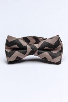 Inspiration for crazy chevron DIY bow tie