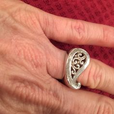 Sterling silver Silpada Paisley stamp ring Such a pretty ring perfect to wear everyday. Silpada Jewelry Rings