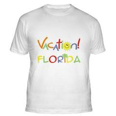 Florida Vacation Fitted T-Shirt> Vacation Florida T-shirts & Gifts> scooterbaby.com #Vacation