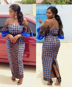 The complete collection of Exotic Ankara Gown Styles for beautiful ladies in Nigeria. These are the ideal ankara gowns Trendy Ankara Styles, Ankara Dress Styles, Ankara Gowns, African Print Dresses, African Print Fashion, African Dress, African Prints, Blouse Styles, African Attire