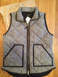 Herringbone print J Crew vest- i keep seeing this everywhere. i need this!