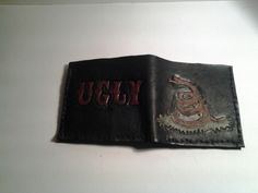 Din't Tread on Me, 100% Leather Wallet