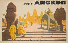 La Indochina francesa de Angkor. Colores cálidos, monjes budistas, grandes figuras de animales y, cómo no, paseos en elefante. Angkor y sus templos eran la 'Indochina francesa' allá por los años 30. Hoy Angkor no es francés, pero seguimos cayendo rendidos ante las ruinas de sus templos.