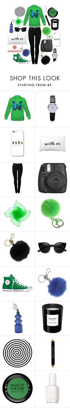 """""""SNAPMADE"""" by lovee-green ❤ liked on Polyvore featuring MM6 Maison Margiela, Fujifilm, MICHAEL Michael Kors, Converse, Michael Kors, Cultural Intrigue, Thierry Mugler, Altreforme, The BrowGal By Tonya Crooks and MAKE UP FOR EVER"""