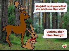 Auch die Tiere finden #Verbrauchertäuschung doof!   #schmidt #vegan #veggii #jäger #jägerschnitzel #sojawurst #tofu