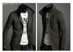 J14 fitted jacket, high collar