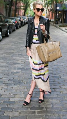 This is so me! Perfect spring colors with a leather jacket!