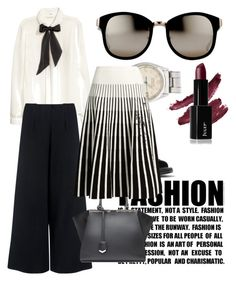 """""""Black and White"""" by regina-eghie on Polyvore featuring H&M, C/MEO COLLECTIVE, Michael Kors, Fendi, Linda Farrow, Rolex and Tomas Maier"""