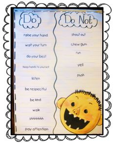 Cute beginning of the year unit using David Goes to School by David Shannon