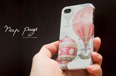 iphone 4 case , iphone 4s case , case for Iphone 4 Blackberry mobile Case handmade: Balloons