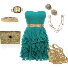 """""""Golden Christmas - Lia Sophia"""" by jade-illeck on Polyvore"""