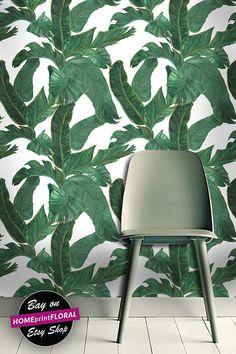 Banana Leaf Removable Wallpaper Peel & Stick Self Adhesive