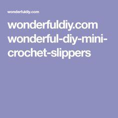 wonderfuldiy.com wonderful-diy-mini-crochet-slippers