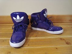 Mensa Adidas Purple High Top Athletic Sneakers Shoes 10 1 2 102457610 | eBay
