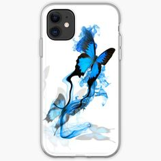 'Blue butterfly' iPhone Case by knovadesign Blue Butterfly, Iphone Case Covers, Iphone 11, It Works, Finding Yourself, My Arts, Art Prints, Type, Printed