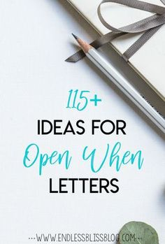 Open When Letters - A box of Open When Letters is the perfect gift idea for anyone in your life. Check out this list of over 100 ideas for Open When Letters!