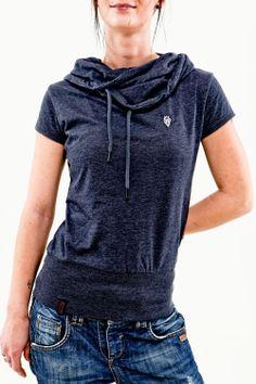 Naketano Achilles II Women Top indigo blue melange Hoodie Shirt blau | eBay