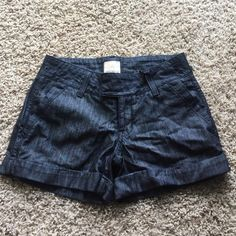 Arden B luxe denim cuffed Jean shorts 0 XS No trades, price firm, no PayPal. Nice quality shorts from Arden B with a dark wash. Cuffed with 2 front and 2 back pockets. Inseam is approximately 3.75 inches. Arden B Shorts Jean Shorts