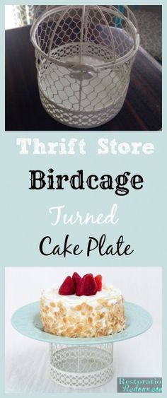 Birdcage turned Upcycled Cake Plate - Restoration Redoux