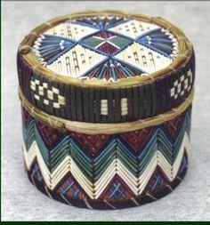 Native American quill box