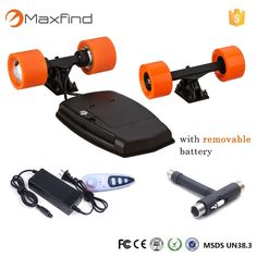 (497.17$)  Watch here  - Maxfind electric skateboard diy 83mm brushless hub motor and pu wheels and trucks and battery skate board Double Motor Drive DIY