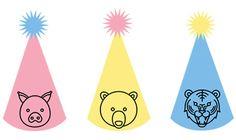 Cappelli di Carta Fai Da Te da Stampare per Feste di Bambini bdf184b4cfc1