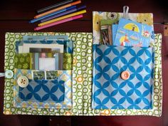 Quilt Fabric Delights Creative - Tutorials - Large Stationery Storage Holder by Melissa Goodsell